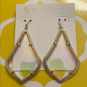 Alexandra Statement Earrings Clear Iridescent